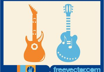 Vector Guitars - vector gratuit #155465