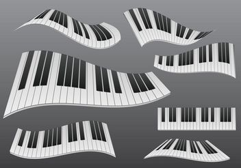 Stylized Wavy Piano - Free vector #155525