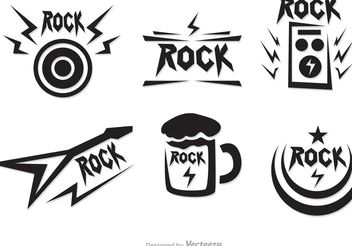 Rock Music Symbols Vectors Pack - Free vector #155545