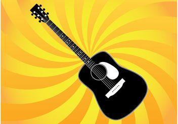 Classic Guitar Vector - Kostenloses vector #155625