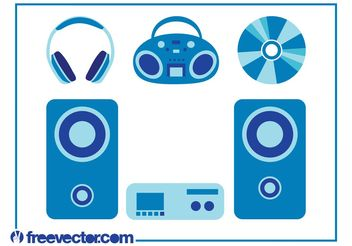 Music Devices Set - vector #155645 gratis