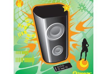 Music Speaker - Free vector #155715