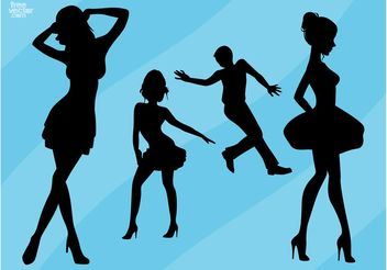 Dance Silhouettes - Free vector #155725