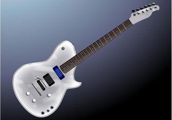 Silver Guitar - vector gratuit #155765