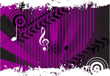 Grunge Music Vector - Free vector #155795