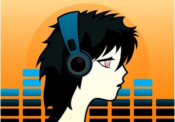 Sad Anime Boy - vector gratuit(e) #155825