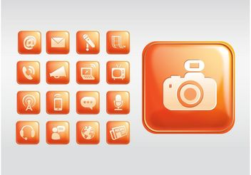 Shiny Square Icons - vector gratuit #155905