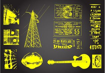 Grunge Designs - Free vector #155955