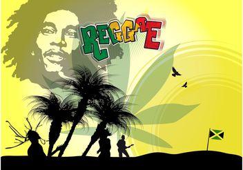 Bob Marley Poster - Free vector #155995