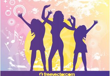 Party Silhouettes - vector gratuit #156035