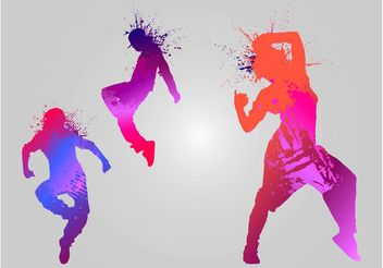 Dancing Silhouettes - Free vector #156045