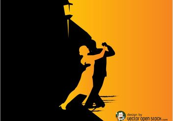 Tango Dancers Graphics - Free vector #156085