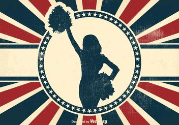 Vintage Cheerleader Background - бесплатный vector #156115