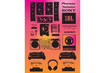 Sound Vectors - vector gratuit #156145