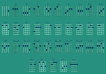 Ukulele Chords Vector Set - бесплатный vector #156165