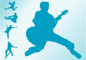 Jumping Boys Silhouettes - vector #156195 gratis