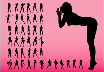 Sexy Women Graphics - Free vector #156285