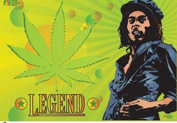 Bob Marley Legend - Free vector #156525
