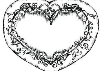 Lovely Sketchy Hand Drawn Heart Free Vector Illustration - vector gratuit #156605