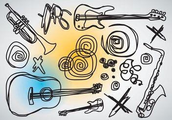 Music Vector Doodles - Kostenloses vector #156665