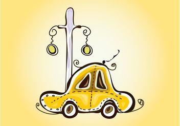 Taxi Sketch - vector #156675 gratis