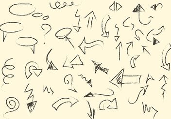 Sketchy Arrows and Line Vectors - vector gratuit #156725