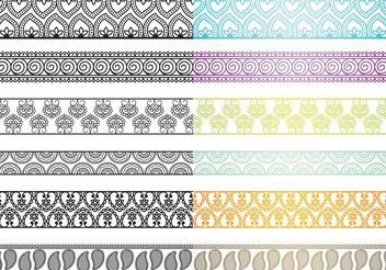 Paisley Borders - Free vector #156765