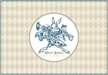 Free White Rabbit Of Alice In Wonderland Vector - Kostenloses vector #156785