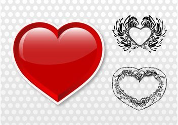 Heart Illustrations - бесплатный vector #156805