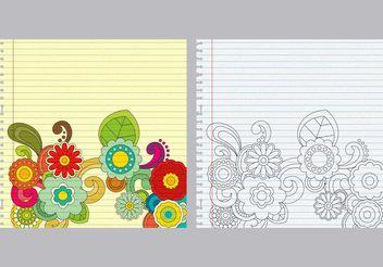 Paisley Notebook Vectors - Free vector #156885