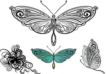 Free Vector Butterfly Illustration - Free vector #156895