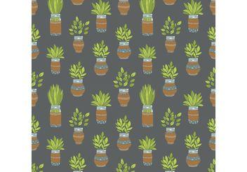 Free Mason Jar Plant Vector Pattern - Free vector #156965