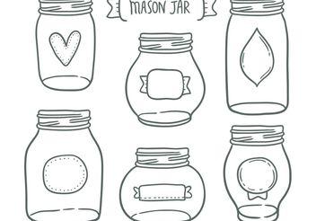 Free mason jar vectors - Kostenloses vector #156975