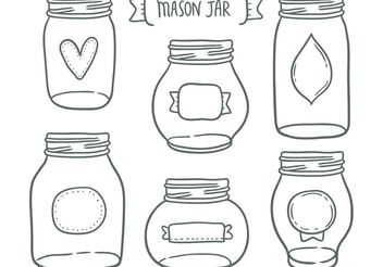 Free mason jar vectors - vector gratuit #156975
