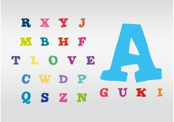 Colorful Alphabet - Kostenloses vector #157005