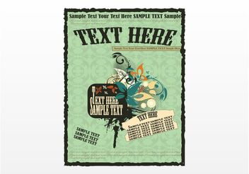 Retro Poster Template - Free vector #157075