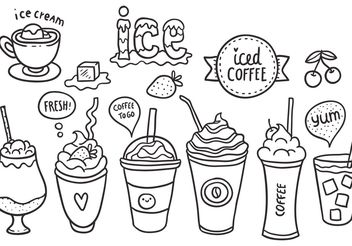 Free Iced Coffee Vector Pack - vector gratuit #157175