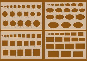 Architecture Stencil Vectors - Free vector #157255