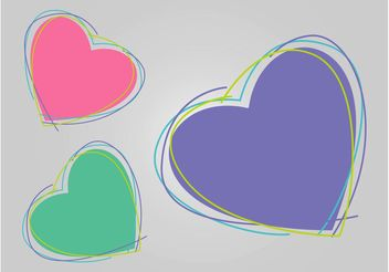 Heart Doodles - Free vector #157285