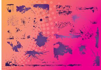 Grunge Borders - vector #157355 gratis