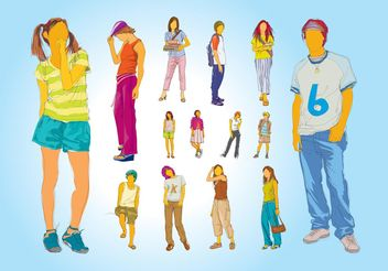 Teenager Illustrations - Free vector #157375