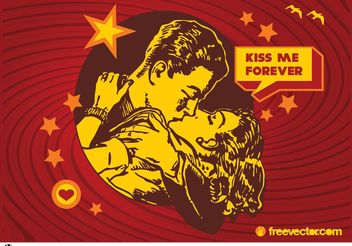 Kiss Vector - vector gratuit #157415