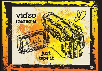Video Camera Illustration - Kostenloses vector #157465
