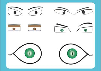 Cartoon Eyes - vector gratuit #157475