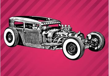 Vintage Car Sketch - vector gratuit #157495