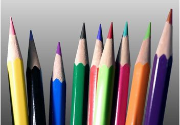 Colored Pencils Vector - Free vector #157545