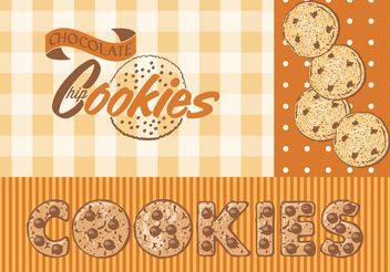 Free Vector Chocolate Chip Cookies - vector gratuit #157565
