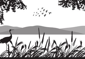 Free Flock Of Birds Vector Background - Free vector #157625