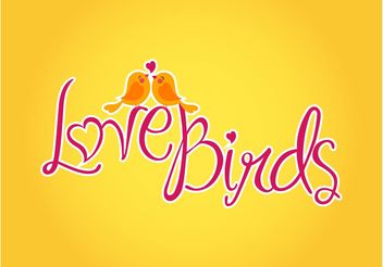Vector Love Birds - vector gratuit #157645