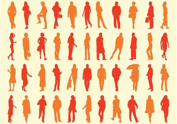 People Silhouettes Pack - Free vector #157935
